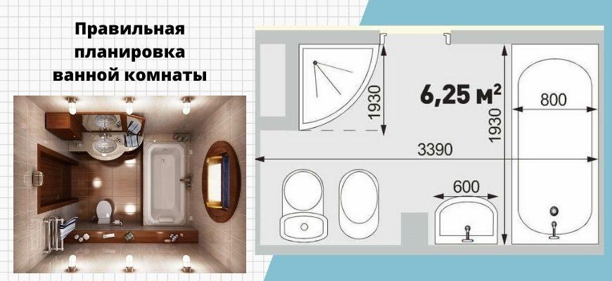 Правильная планировка ванной комнаты